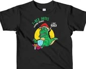 T-Rex Hates Wrapping Presents Dinosaur Lover Funny Christmas Short sleeve kids t-shirt