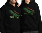 Funny Christmas Tree Rex Holiday Gift Unisex Hoodie