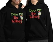 Day After Christmas Zombie Santa Be Like Funny Holiday Gift Unisex Hoodie