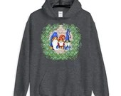 Cute Gnome Family Portrait For Holiday Gnome Lover Christmas Unisex Hoodie