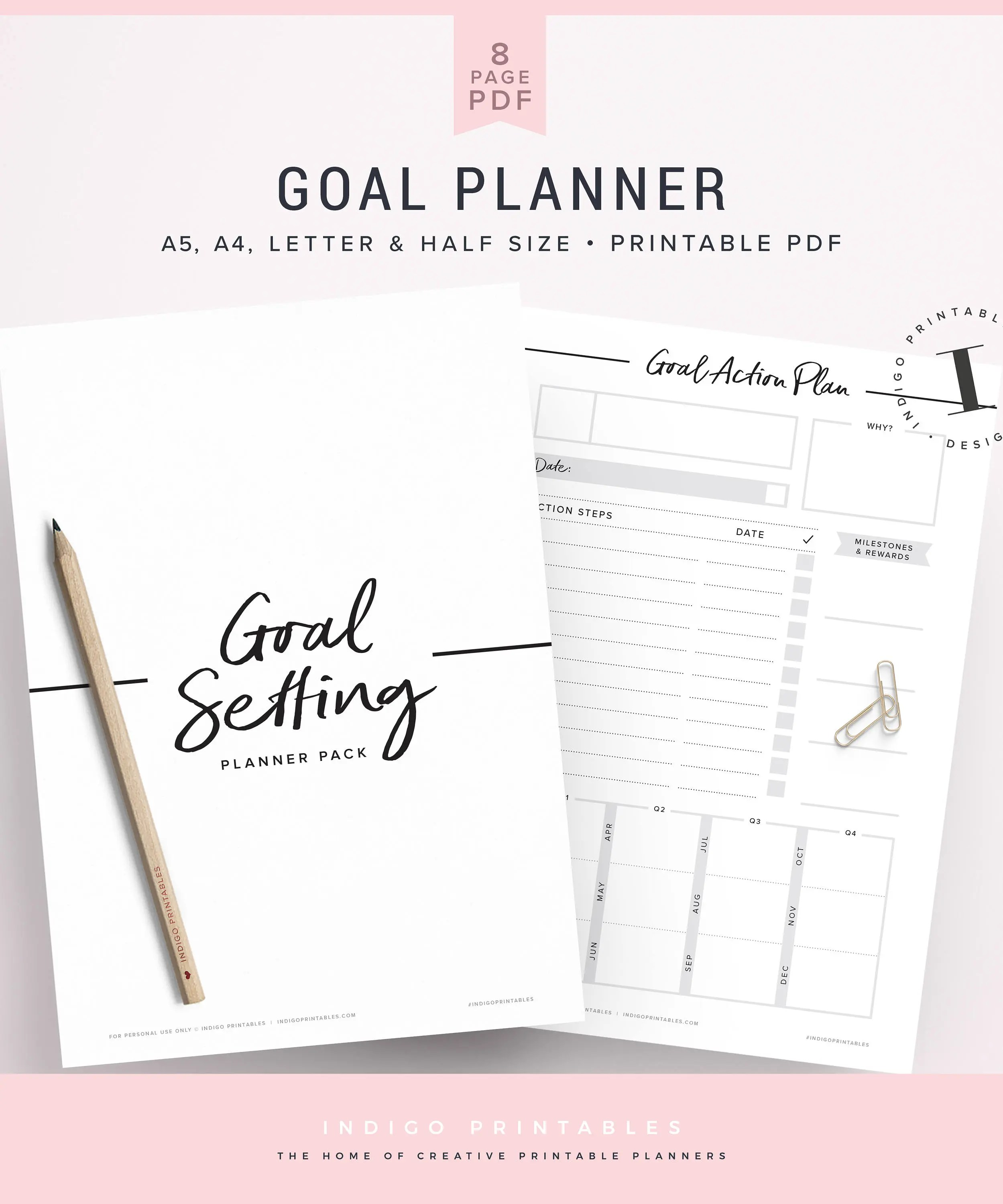 Goal Planner Goal Worksheet Planner Kit Goal Planning Kit