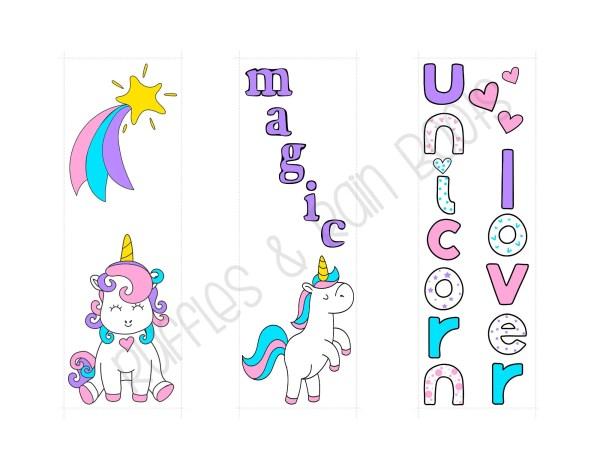 printable unicorn bookmarks # 56