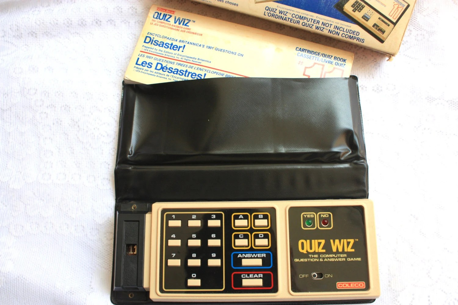 Coleco Quiz Wiz Vintage Computer Game Computer Answer Game