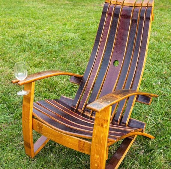 adirondack chair tables wine barrel chair wine barrel etsy