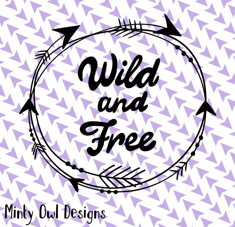 Download Cricut SVG PNG Wild & Free SVG Arrows Tribal Frame | Etsy