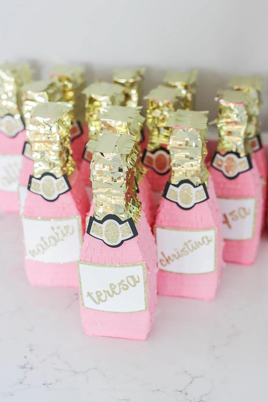 Pink Champagne Mini Pinata Rosé Bridesmaid Proposal Rosé image 1