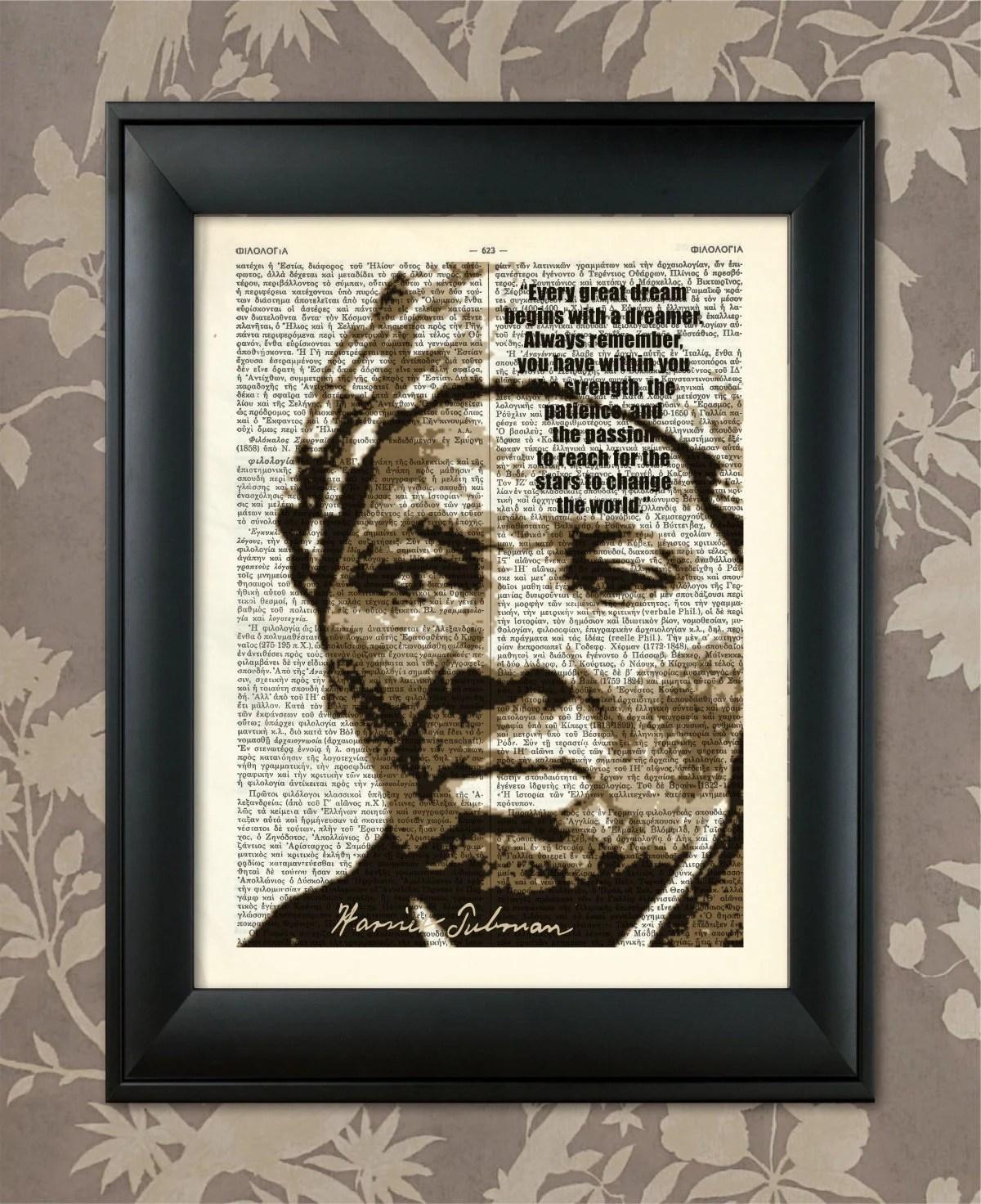 Harriet Tubman Quote Black History Print Harriet Tubman
