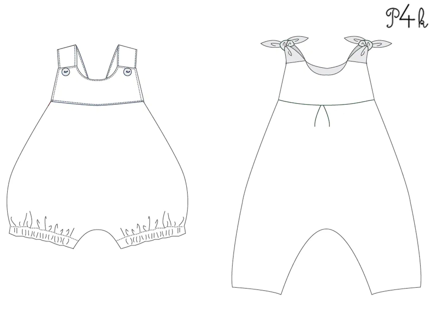 Baby Overall Sewing Pattern For Girls And Boys