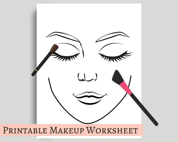 Makeup Template Worksheet For