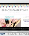 Instant Download Premade Blogger Template Cute Blog Design Etsy