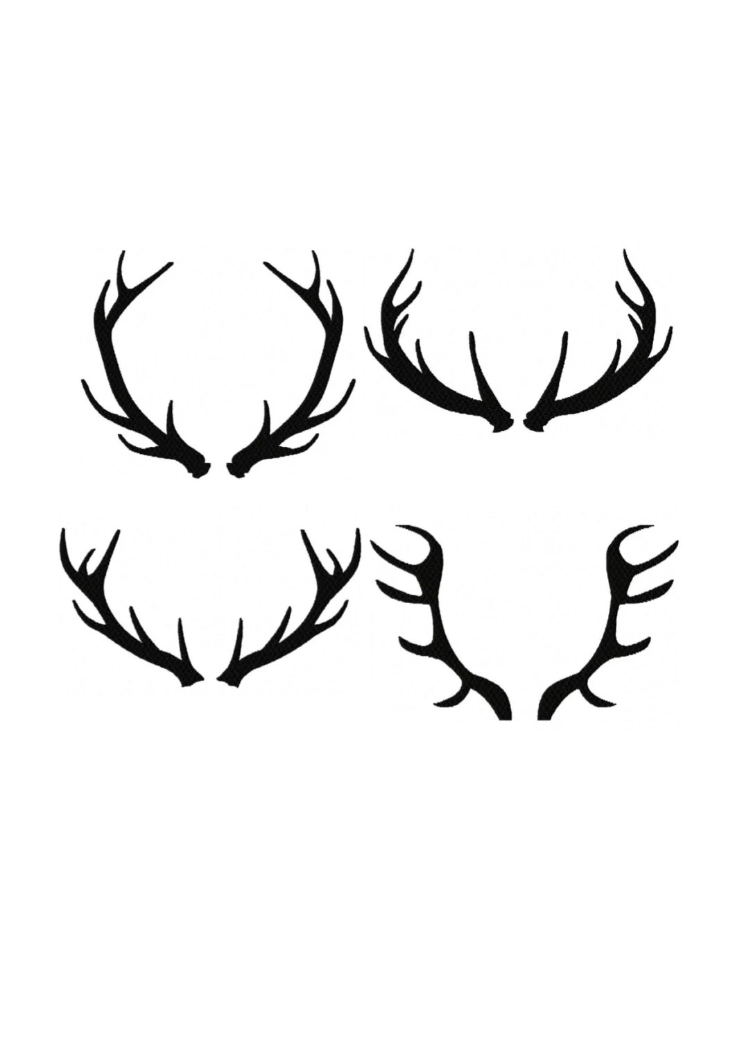 Set 4 Silhouette Buck Antlers Stant Download Ttern