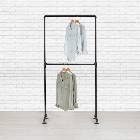 garment rack double rail clothes rack clothing rack etsy