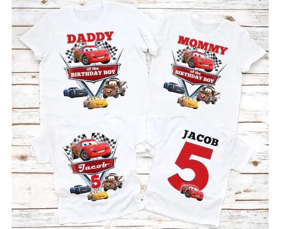 Cars Birthday Shirt Disney Cars Birthday Shirt Cars Birthday Etsy