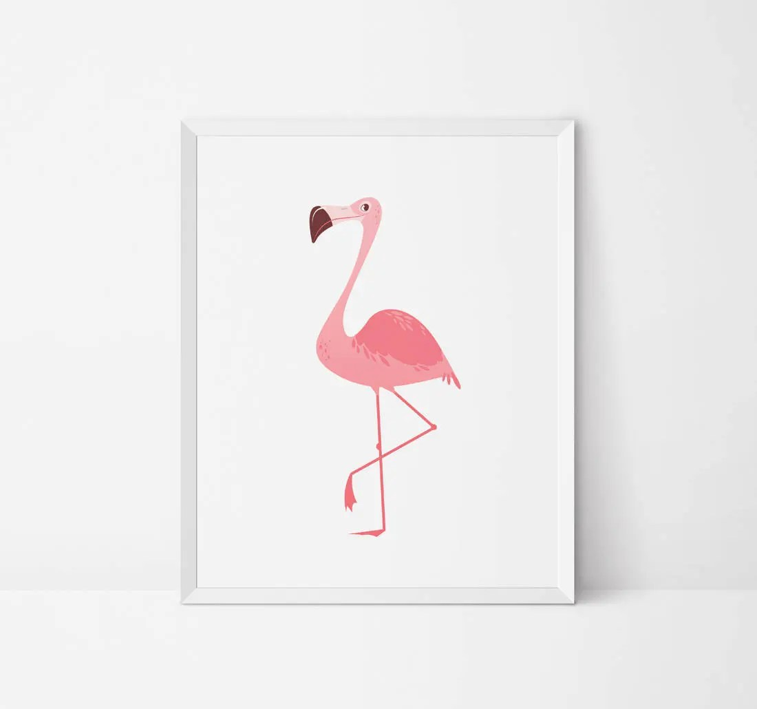 Flamingo Druckbare Flamingo Wandkunst Kinderzimmer Wand Kunst