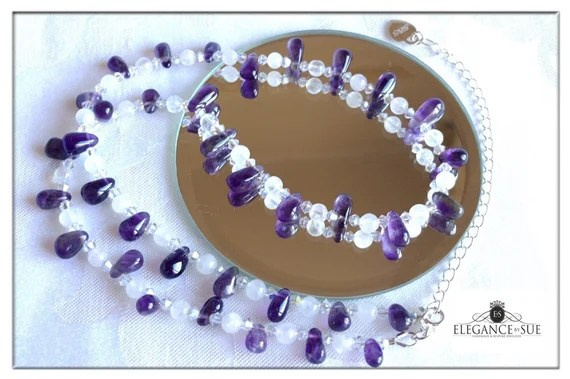 Amethyst and Moonstone Necklace