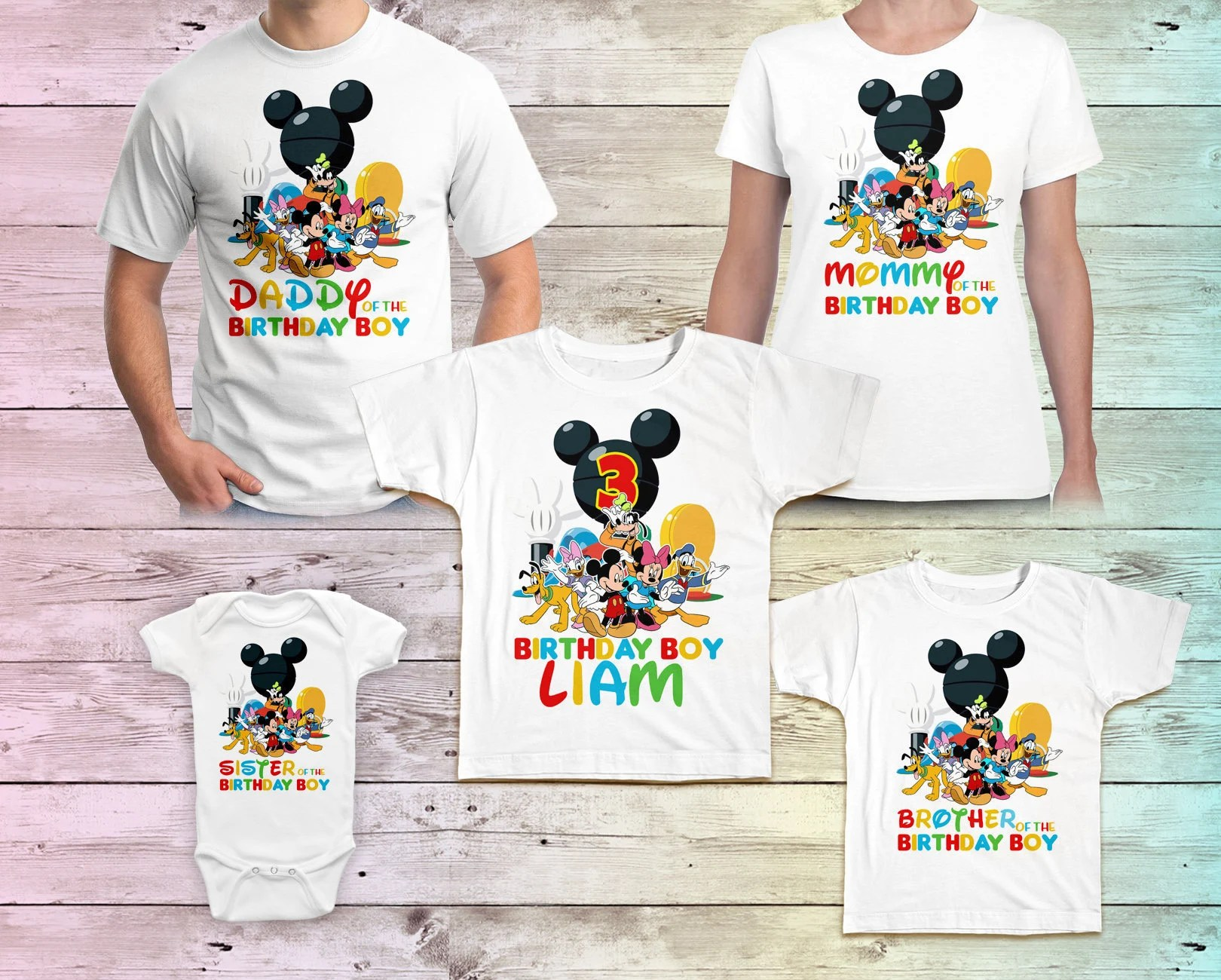 Mickey Mouse Clubhouse Birthday Shirt Mickey Mouse Birthday Etsy