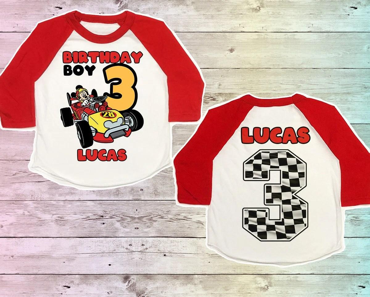 Mickey Roadster Racers Birthday Shirt Mickey Racers Birthday Etsy