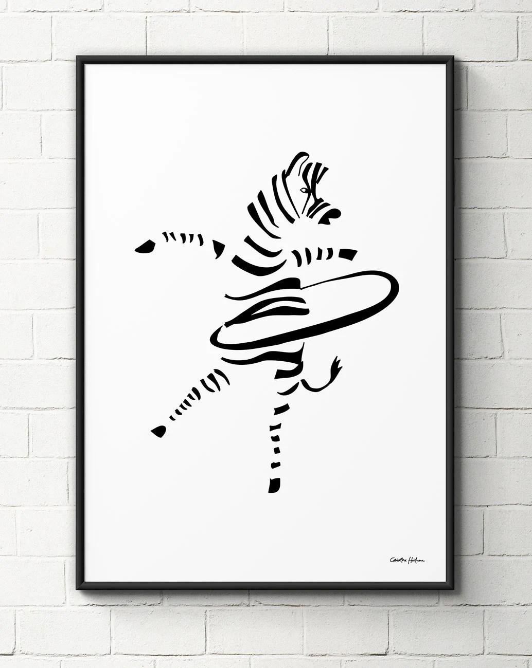 Hula Hoop Zebra Poster Ts For Kids Stocking Stuffers