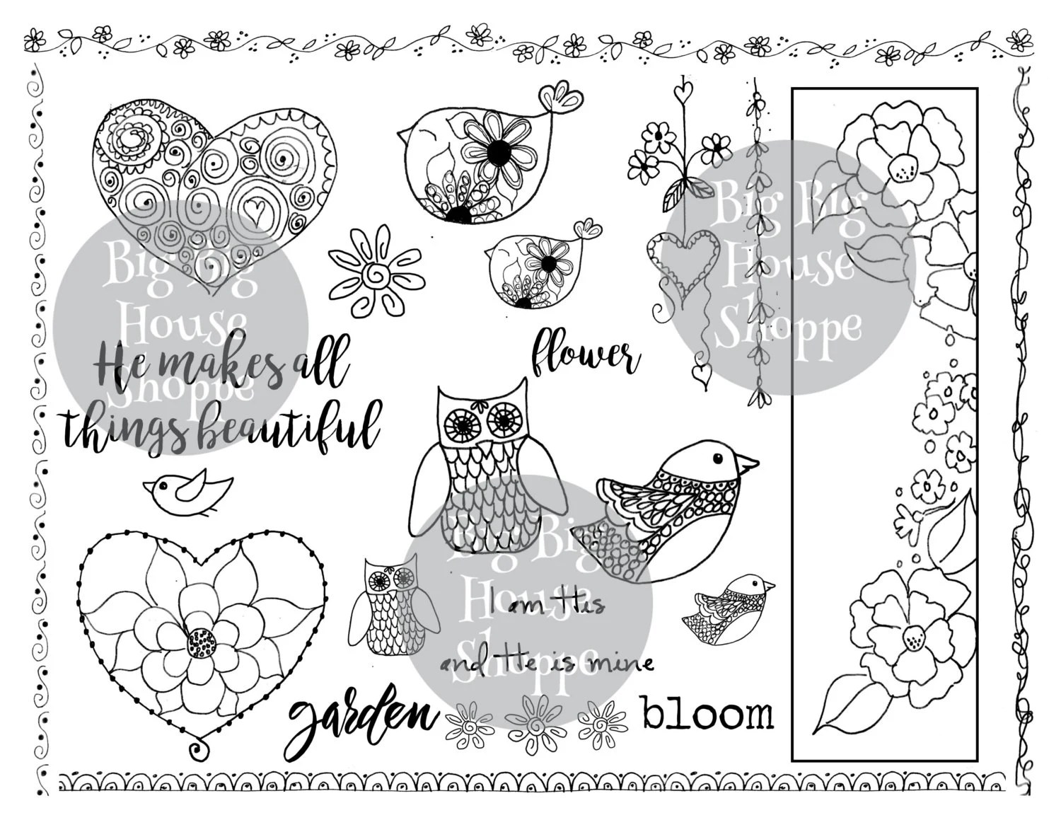Flowers Amp Birds Big Idea Page For Art Journaling