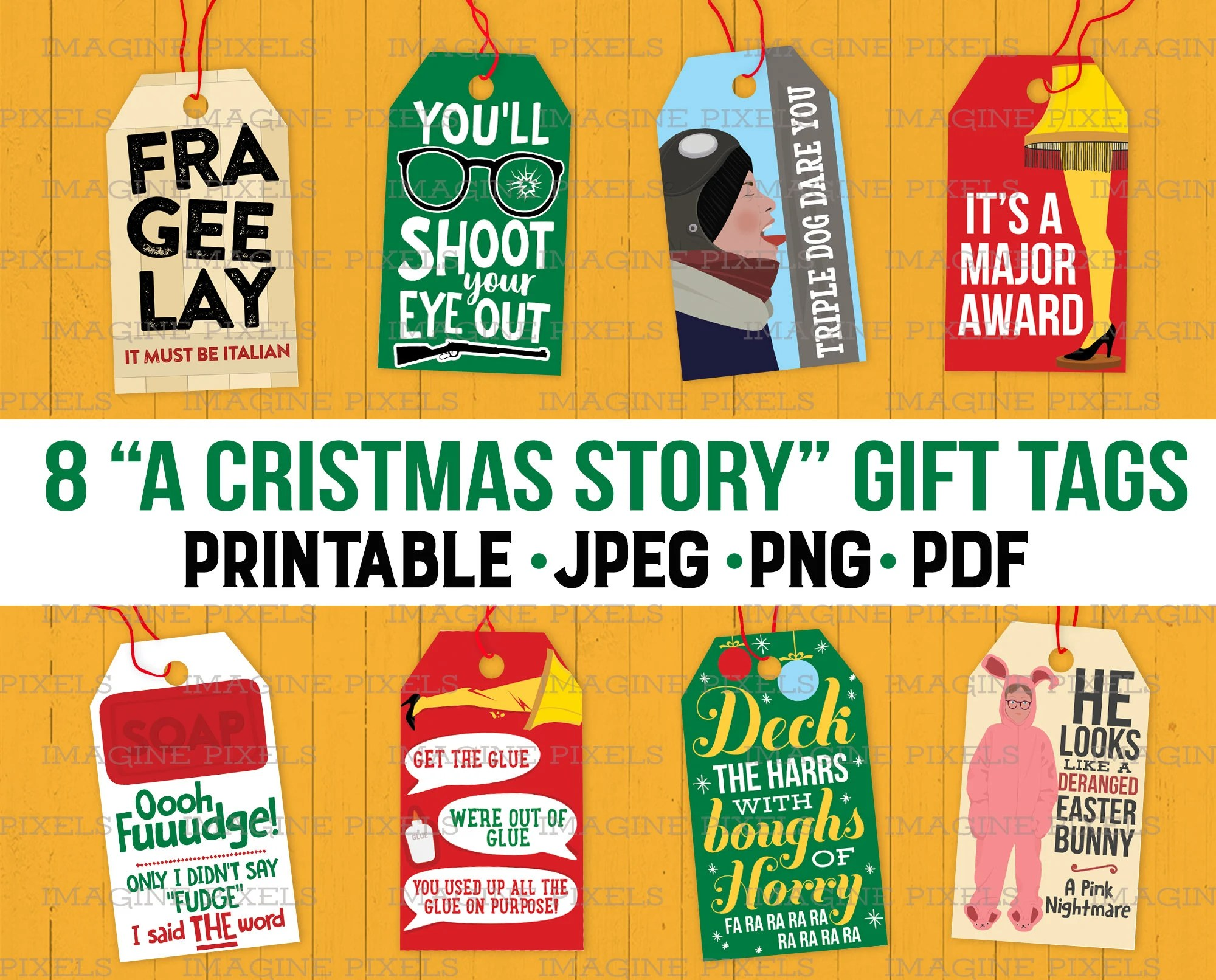 A Christmas Story Movie Quotes T Hang Tags Christmas