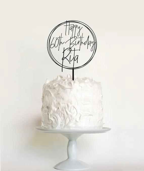 Personalised Birthday Cake Topper Custom Name Cake Topper Etsy