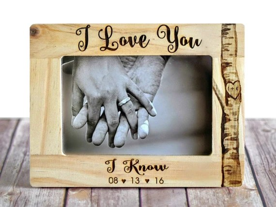 Download Star Wars I Love You/I Know Picture Frame | Etsy