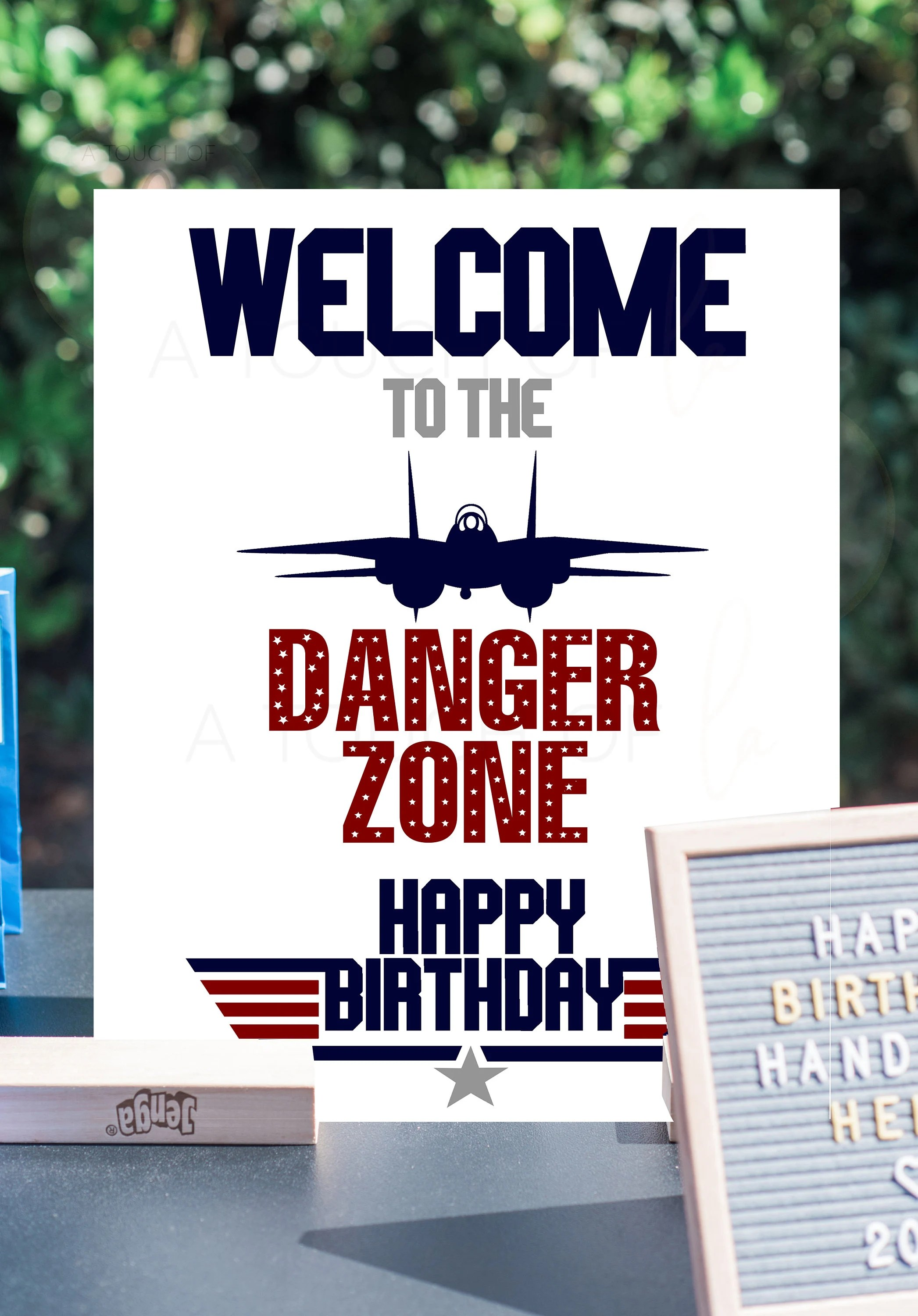 Printable Top Gun Happy Birthday Welcome Sign 16 X 20 Top Etsy