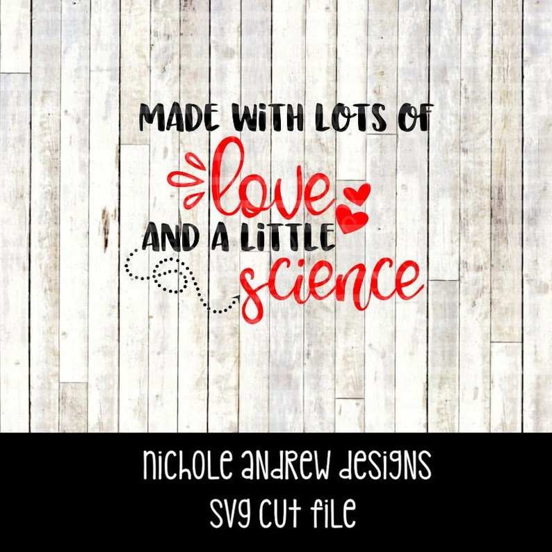 Download Made with lots of love and a little science svg IVF svg   Etsy