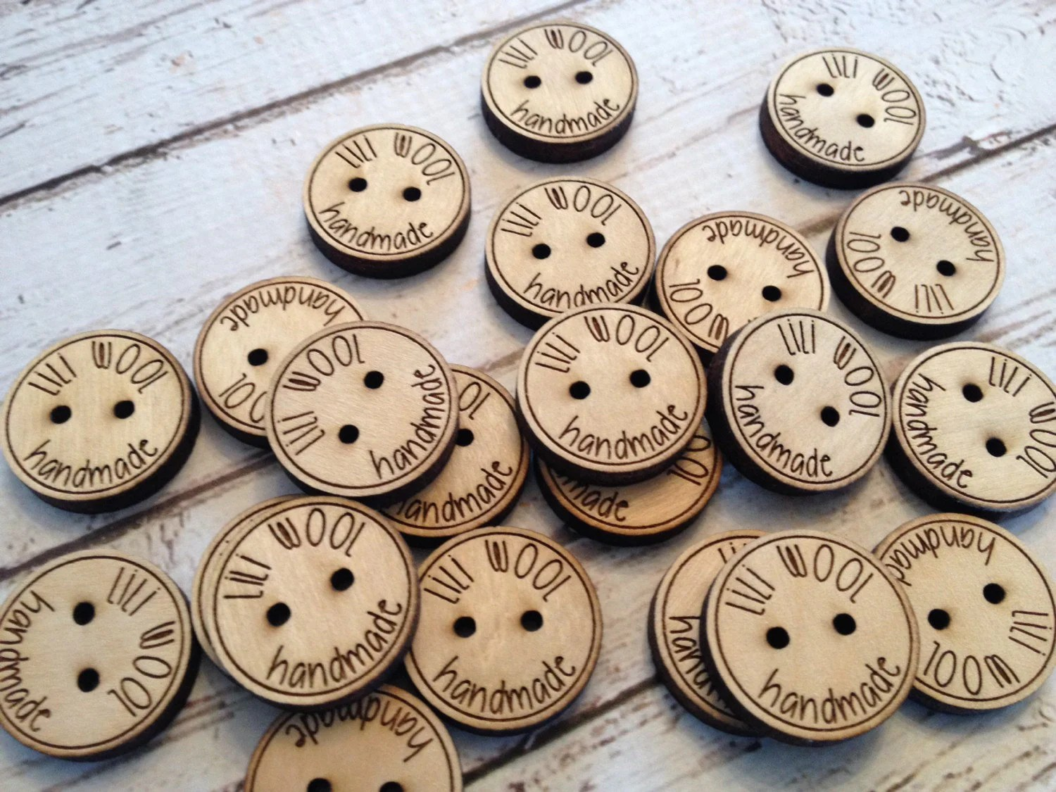 Custom button design  personalized wood button engraved image 3