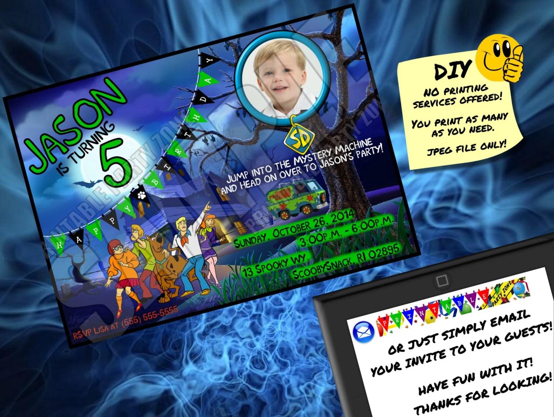 Scooby Doo Birthday Invitation Printable Invite Emailable