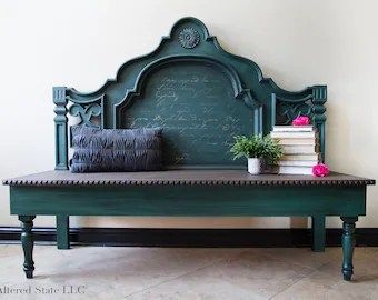 headboard bench etsy