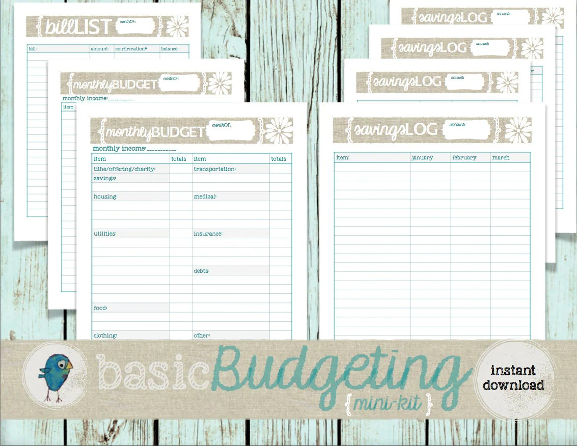 Budget Planner Mini Kit Budgeting Planner Worksheets For Your