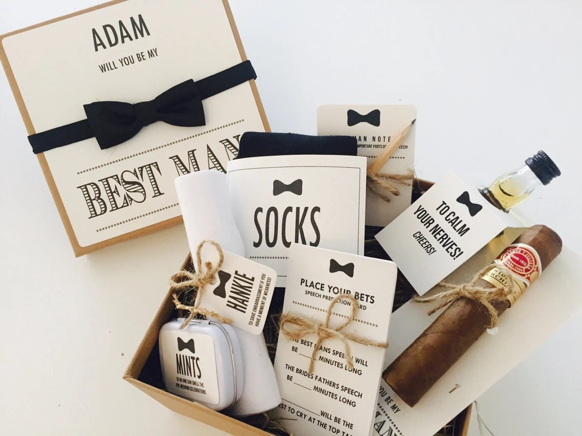 Personalised Will you be my Best Man? gift box