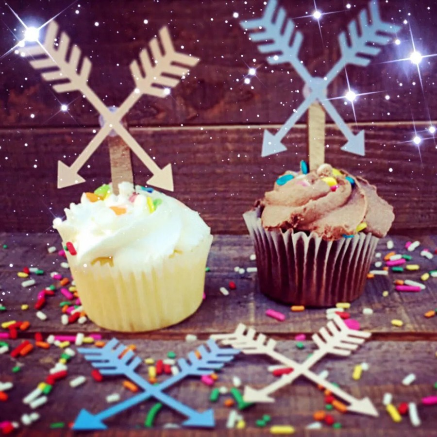 Arrow Cupcake Toppers - S...