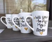 Will You Be My Bridesmaid Coffee Mugs - Bridesmaid Gifts - Be My Bridesmaid Mugs Personalized for Free!