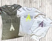 Mama to Wild Ones - Wild One - Family Twinning T Shirts - Tee Pee Tops for Family