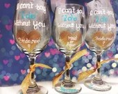 Be My Bridesmaid - Personalized Bridal party wine glasses. Bridesmaid Gift Wine Glasses.