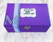 Be My Bridesmaid Box! Will you be my Maid of Honor? Bridesmaid Gifts and Personalized Pop the Question boxes!