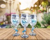 I cant Say I Do without You - Be my Bridesmaid Wine glasses - Bridesmaid and Mateon of Honor Gifts.