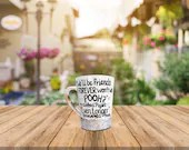 We will be friends forever wont we Pooh? Even Longer Piglett! Best Friends Gifts and Coffee Mugs.