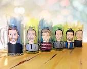 Charicature Beer Mugs - G...