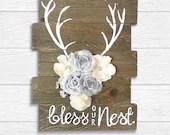 Reclaimed Wood Antlers Bl...