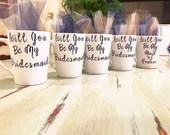 Will you Be My Bridesmaid - Be my Maid Coffee Mugs - Bridesmaid Gifts - Bridal Party Gifts - Enagagement