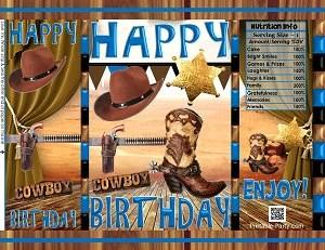 Printable Potato Chip Bags Pdf Happy Birthday Cowboy Western Etsy