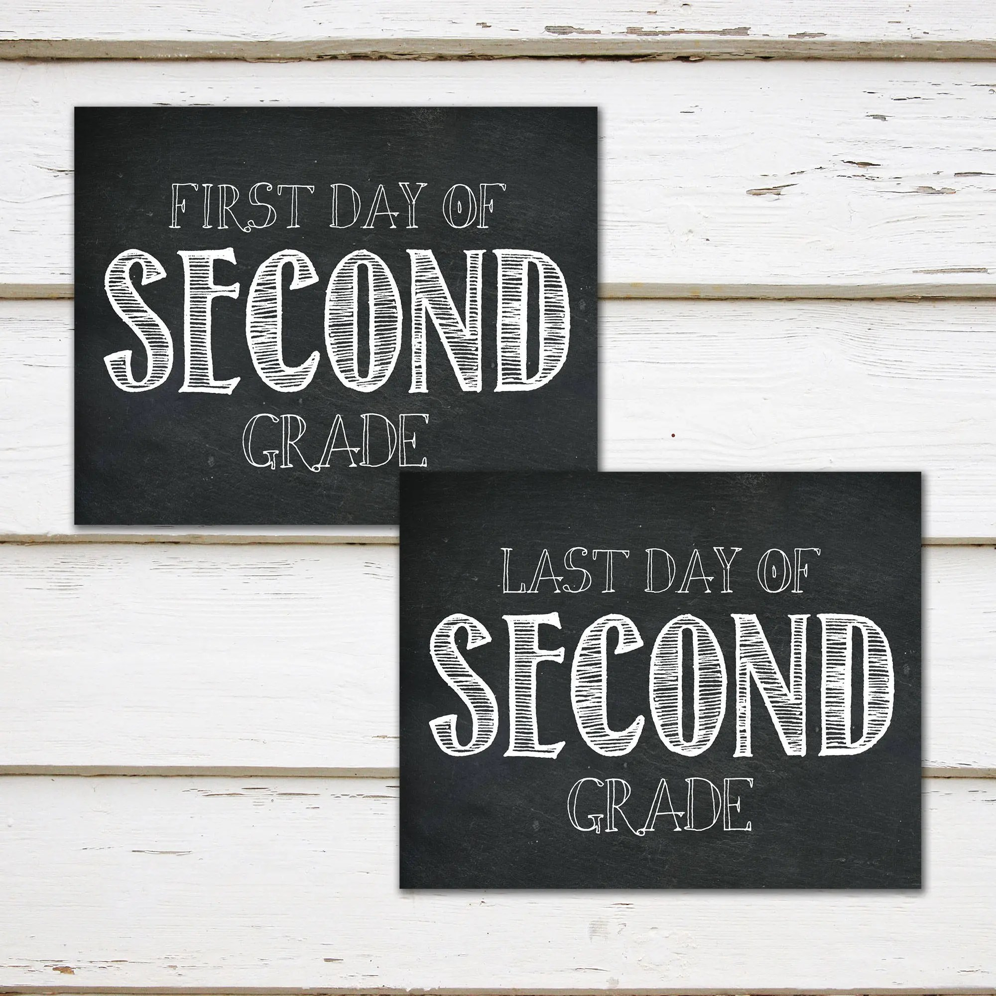 Printable First And Last Day Of Second Grade Signs