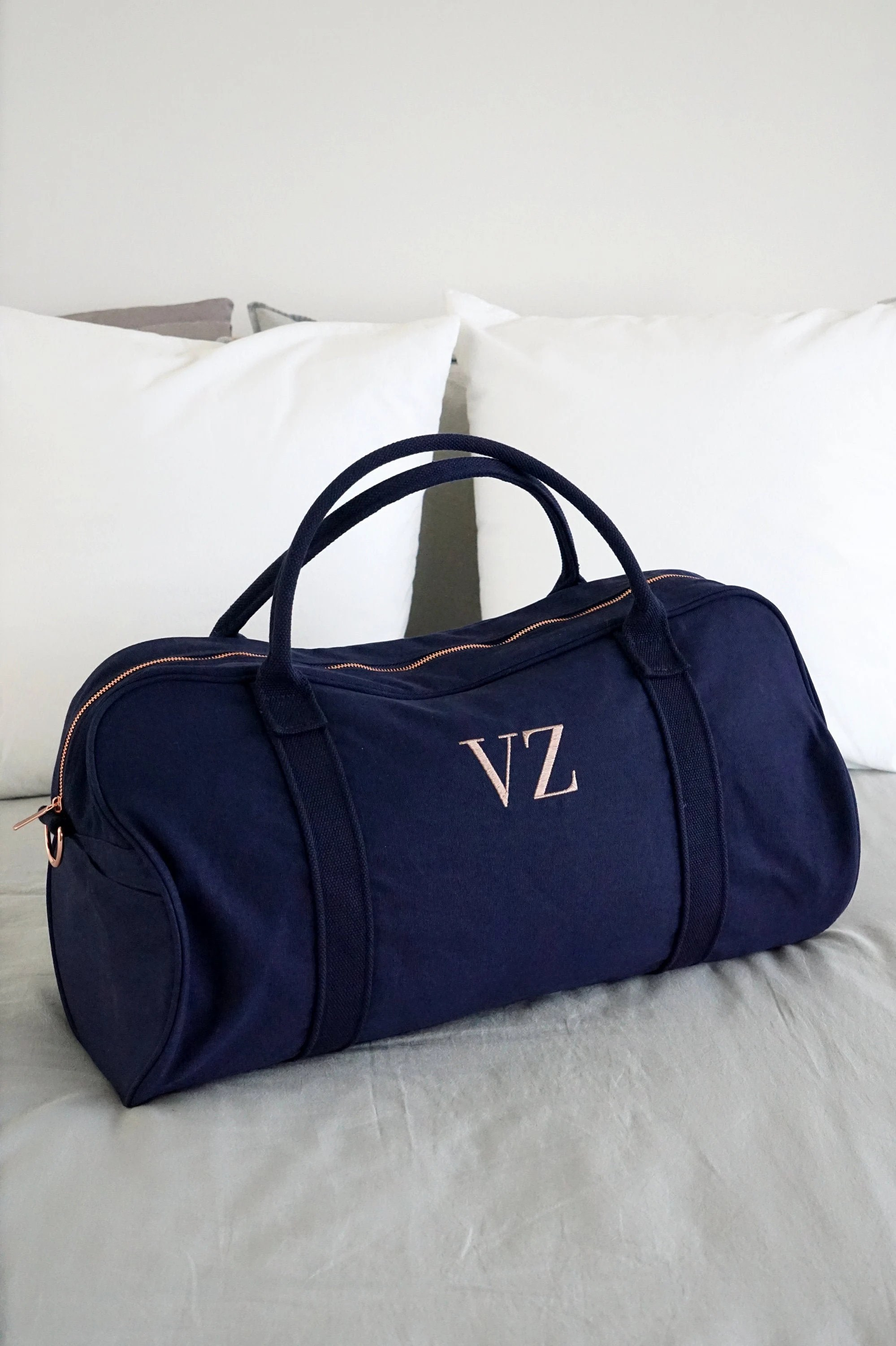 Personalised Bag //Duffle Bag //Bridesmaid Gifts //Monogrammed Navy-PREORDER 30APR
