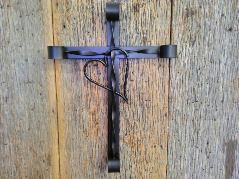 Rustic Wrought Iron Wall Art Metal Cross Wall Hanging