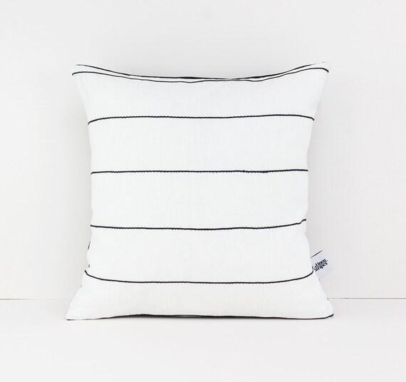 26x26 pillow cover white throw pillow covers modern linen cushion cover black and white euro sham black white stripe pillow case linen
