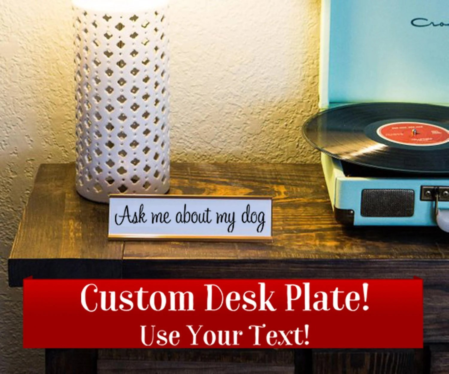 Custom Name Desk Plate  Personalized Name Plate  Choose Your image 4
