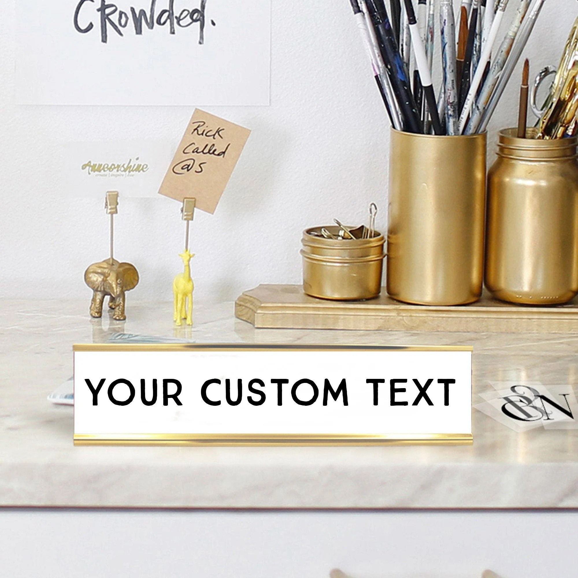 Custom Name Desk Plate  Personalized Name Plate  Choose Your image 2